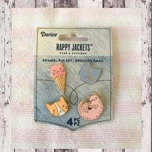 "2/$15 Darice ""Happy Jackets Cat Lady"" 4 pc Set 🆕"